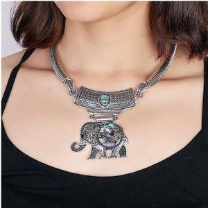 NEW Women's Boho Elephant Abalone Necklace